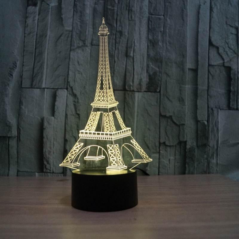 EIFFEL TOWER  3D LAMP 8 changeable colors