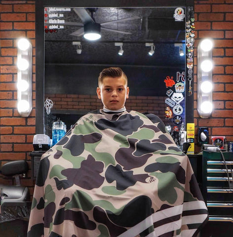 Jungle Camo Hair Cutting Cape