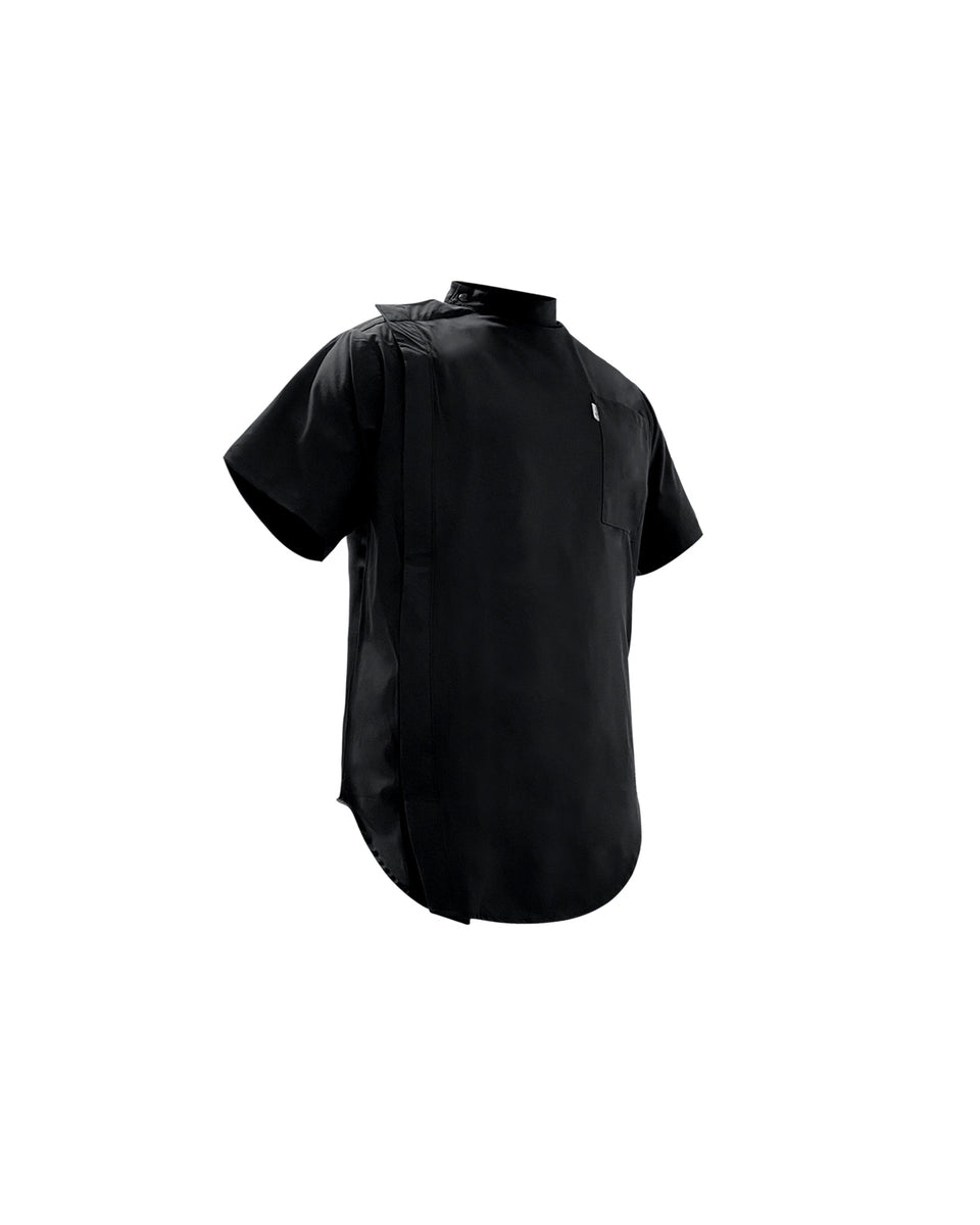 Black Scoop Bottom Barber Smock