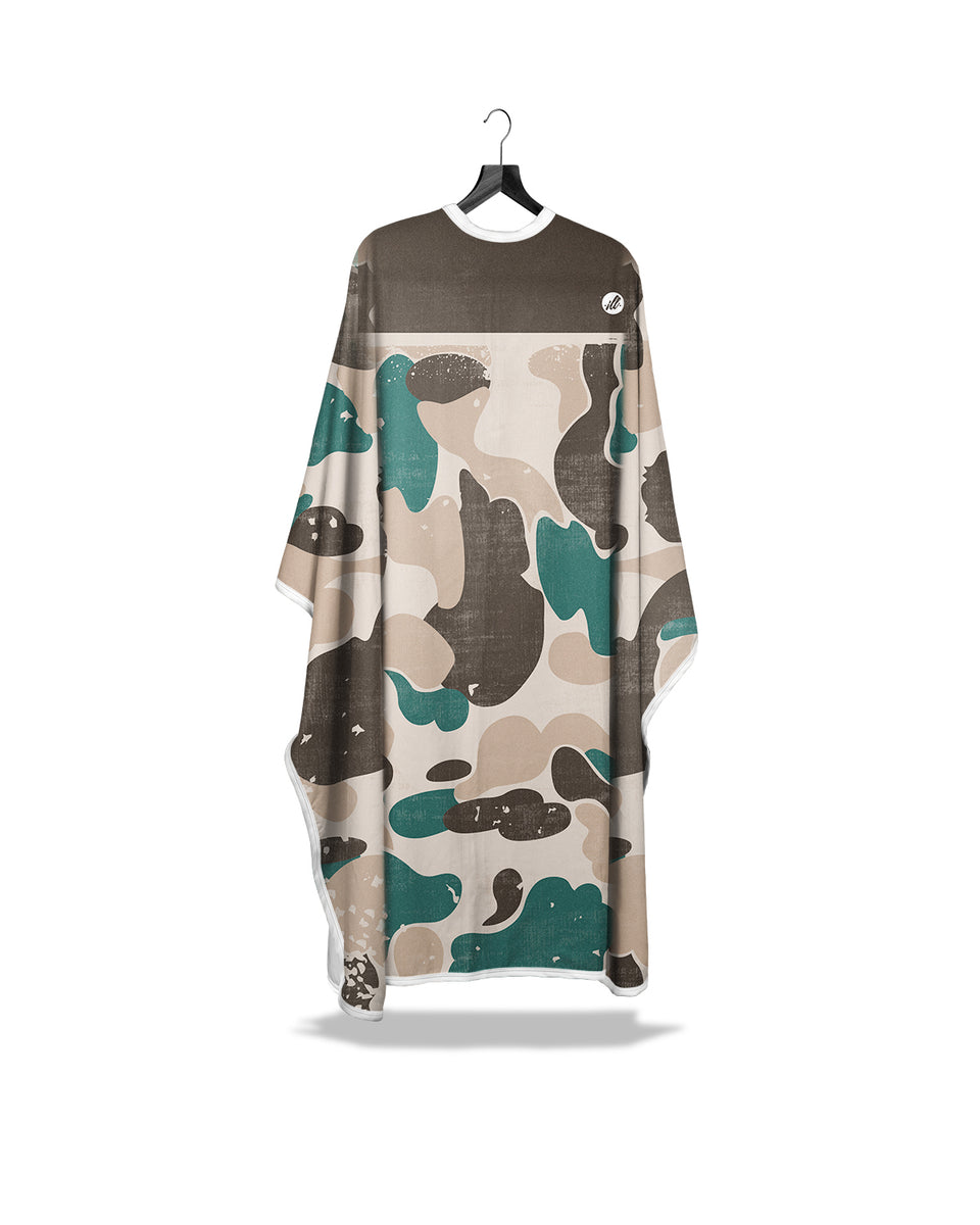Teal Ash Distressed Camo PRO Cape