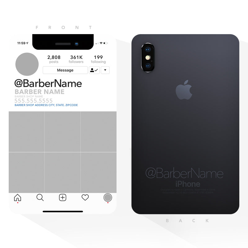 iPhone Xs MAX Barber Promo Flyers (3x5 inches)
