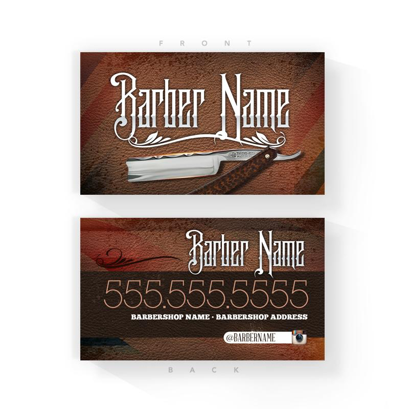 Vintage Barber Business Cards (2x3.5 inches)