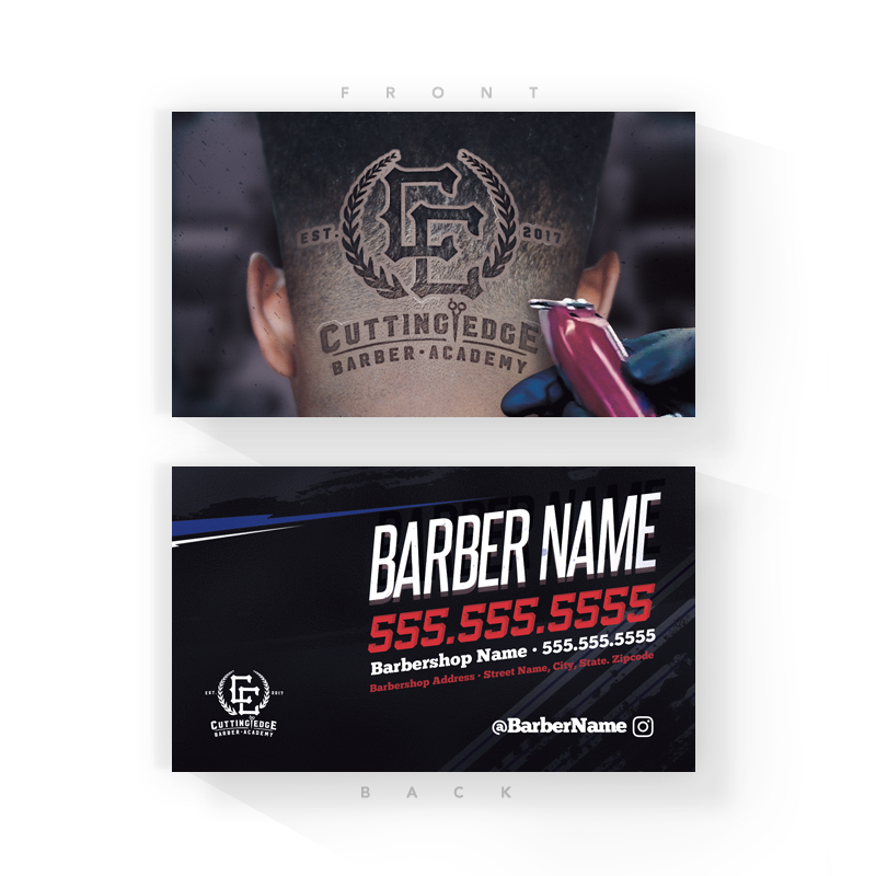 Logo Head Barber Business Cards (2x3.5 inches)