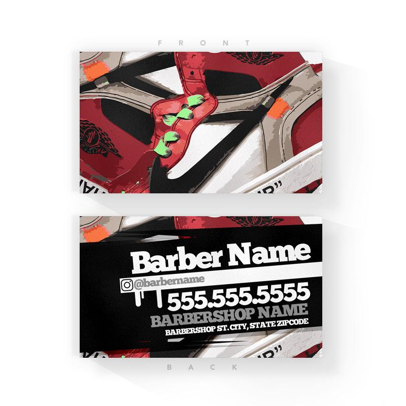 BRED 1 Barber Business Cards (2x3.5 inches)
