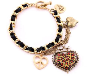 Broad Heart Bracelet - Pinkybears Fashion Boutique Malaysia