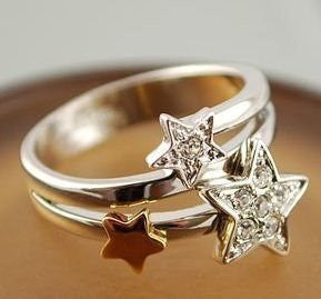 Crystal Meteor Star Ring - Pinkybears Fashion Boutique Malaysia
