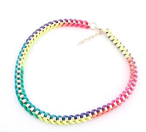 Fluorescence Weave Necklace - Pinkybears Fashion Boutique Malaysia