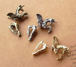 Flying Pegasus Stud Earring - Pinkybears Fashion Boutique Malaysia