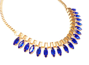 Oval Crystal Beads Necklace - Pinkybears Fashion Boutique Malaysia