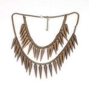 Retro Punk Rivets Necklace - Pinkybears Fashion Boutique Malaysia