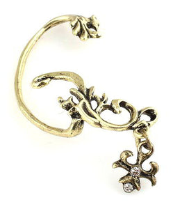 Vintage Dragon Flower Earring - Pinkybears Fashion Boutique Malaysia