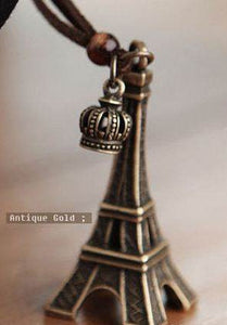 Vintage Long Eiffel Tower Necklace - Pinkybears Fashion Boutique Malaysia