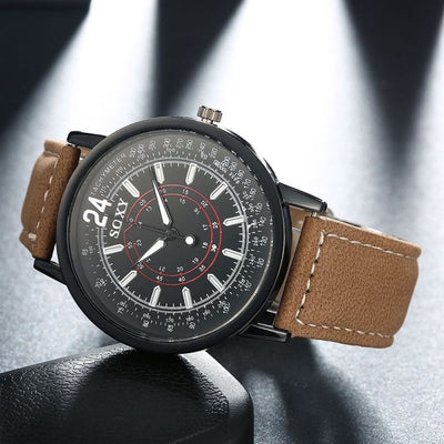 Luxury Military Watches Men Brand 2018 Leather Strap Quartz Wrist Watch Men's Sports Business Clocks Watch Reloj Montre Homme-jewelryshopmamoo