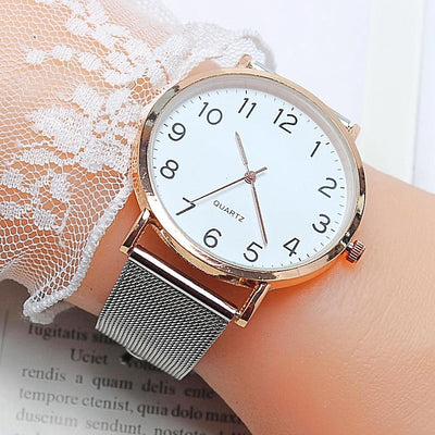 Unisex Simple Business Fashion Steel Strip Quartz Wrist Watch 2018 mens watches top brand luxury Men Quartz Watch Casual Male W4-jewelryshopmamoo