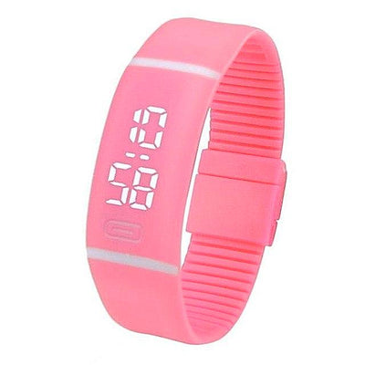 Mens Womens Watch Sports Rubber LED - jewelryshopmamoo