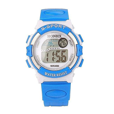 Sky Blue Multifunction Sports Electronic Sport Digital men's watch For Child Girl Boy Students Children's watches-jewelryshopmamoo