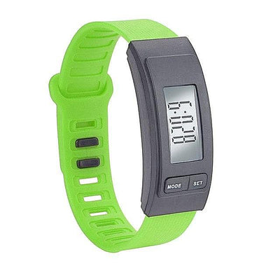 Run Step Silica Watch Bracelet Pedometer Calorie Counter Digital LCD Walking Distance Womans Watch Sport Waterproof Wrist Wtch-jewelryshopmamoo
