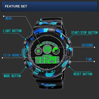 Fashion Mens Digital LED Analog Quartz Alarm Date Sports Wrist Watch Relogio Masculino Erkek Kol Saati Watch Men-jewelryshopmamoo