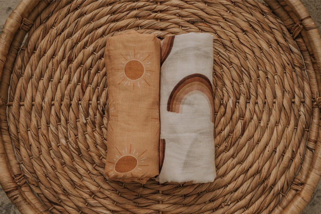Brixton Phoenix Muslin Swaddle - Golden Hour