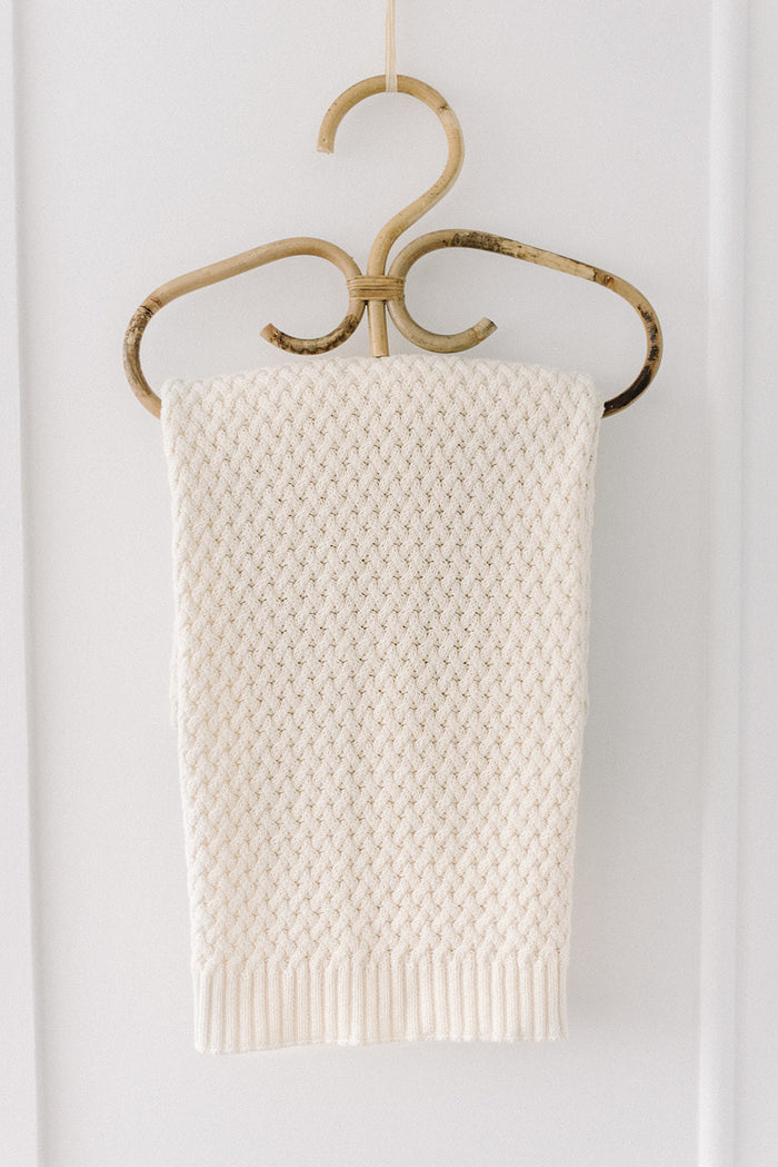 Snuggle Hunny Kids Diamond Knit Baby Blanket - Cream