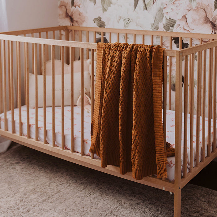Snuggle Hunny Kids Diamond Knit Baby Blanket - Bronze