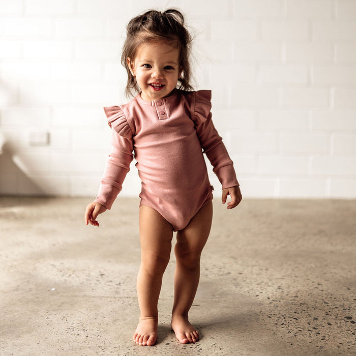 Snuggle Hunny Kids Bodysuit - Rose