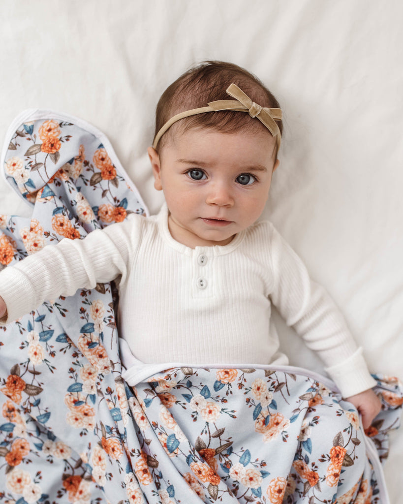 Snuggle Hunny Kids Velvet Bow - Pebble