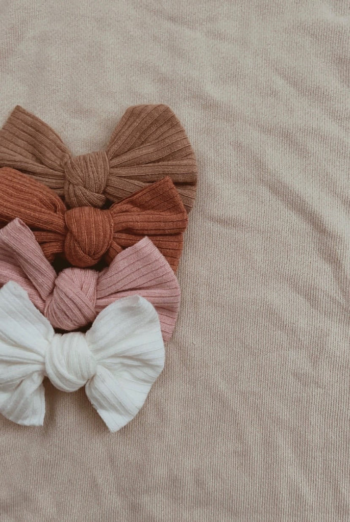 Mae and Rae Bow Headband - Burnt Orange