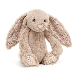 JellyCat Bashful Blossom Bea Beige Bunny - Small
