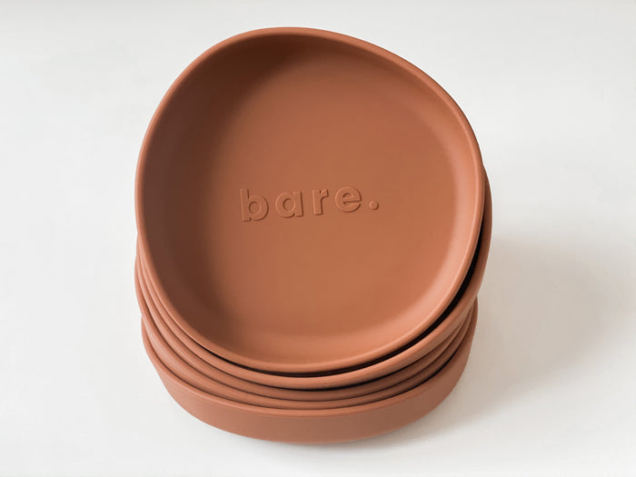 Bare Bibs Irregular Suction Plate - Clay