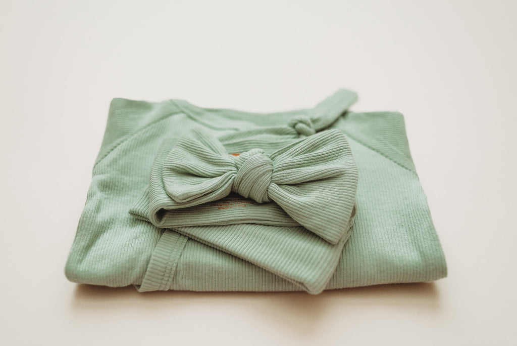 Brixton Phoenix Ribbed Head Wrap - Sage
