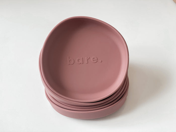 Bare Bibs Irregular Suction Plate - Dusty Rose