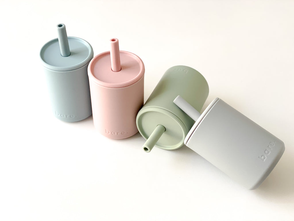 Bare Bibs Silicone Sippy Cup - Grey