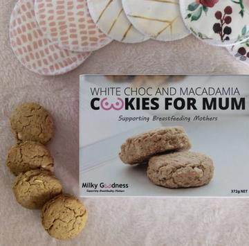 Milky Goodness Lactation Cookies - White Chocolate Chip & Macadamia
