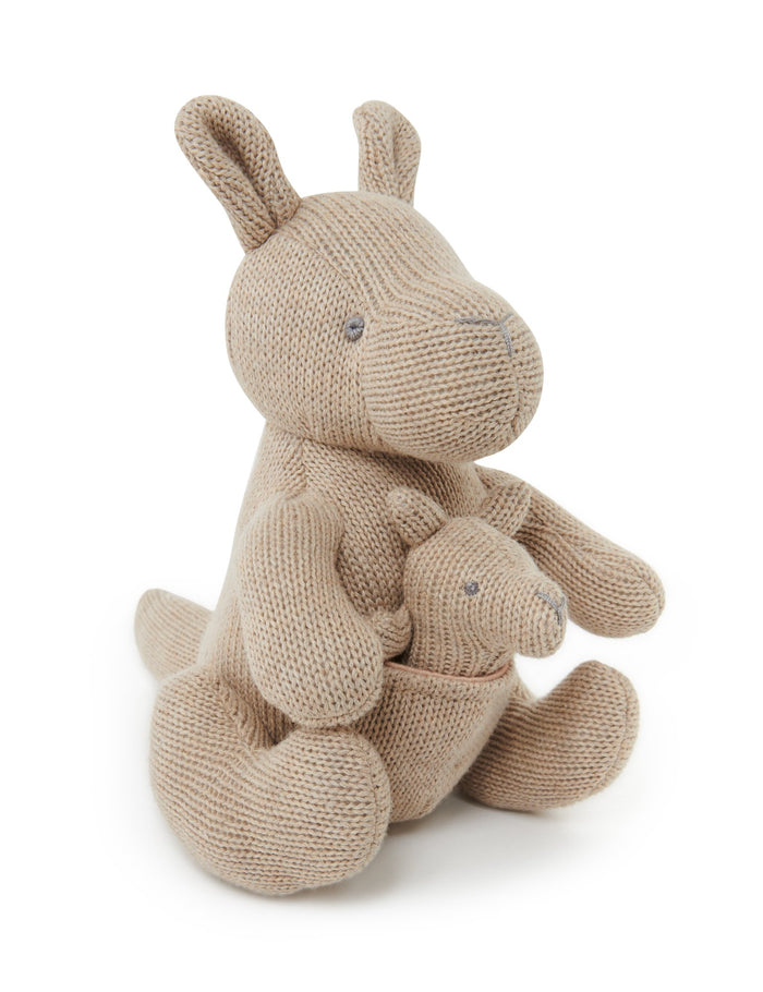 Pure Baby - Knitted Kangaroo Toy