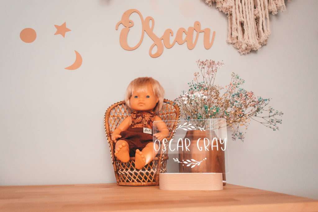 PRE ORDER - Pip & Willow - Personalised LED Night Light