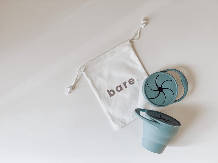 Bare Bibs Silicone Snackie Cup - Dusty Blue