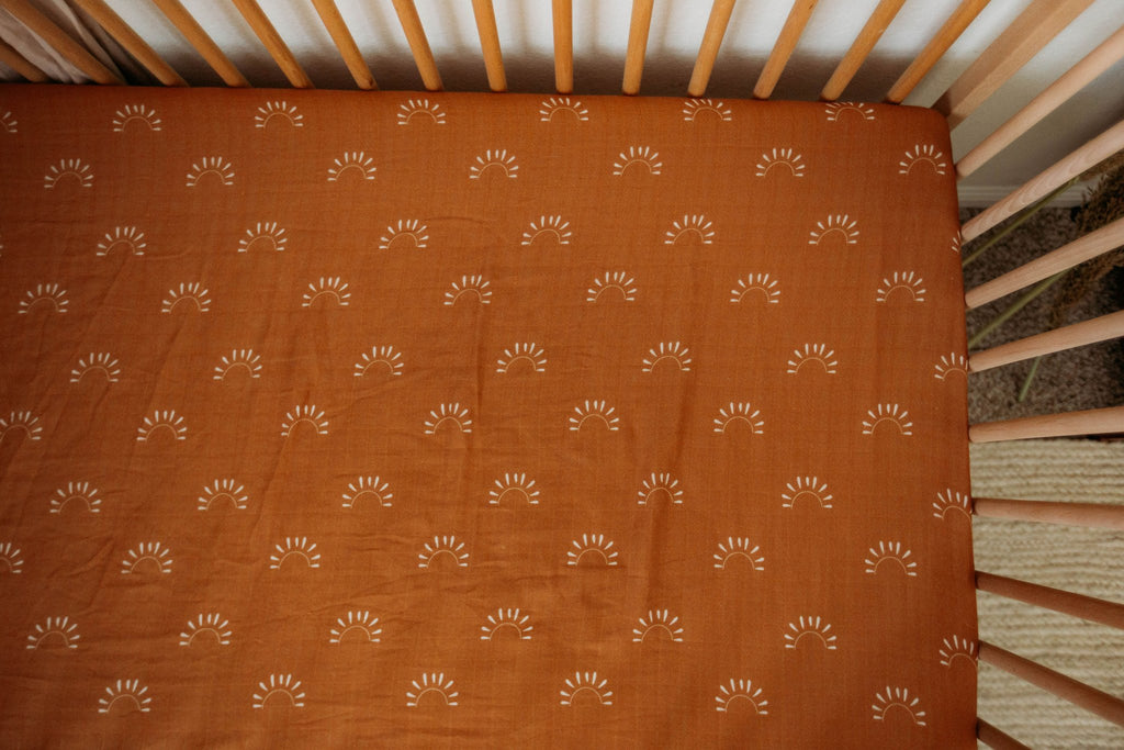 Brixton Phoenix Cot Sheets - Sundown