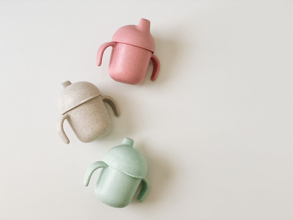Bare Bibs Wheat Straw Sippy Cup - Various Colours