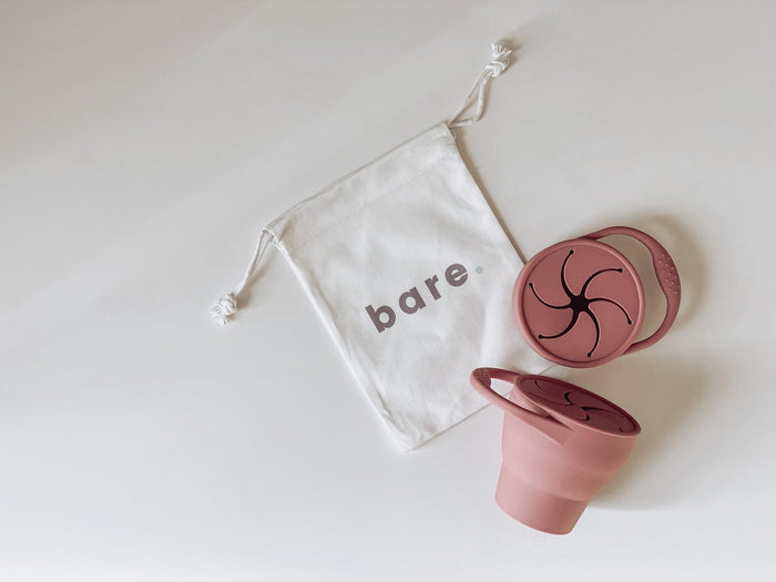 Bare Bibs Silicone Snackie Cup - Dusty Rose
