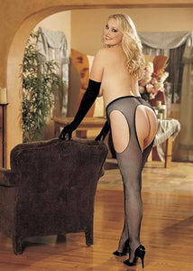 A Queen's Fishnet Suspender Pantyhose