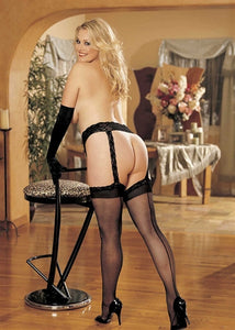 Lace Garterbelt and Stocking Set Queen