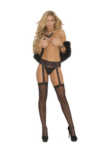 The Queen's Sheer Garter Belt & Thigh Highs