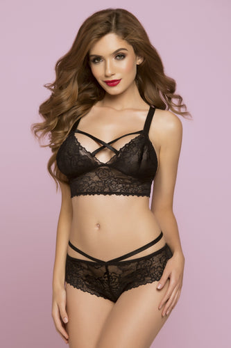 Bianca Rose Galloon Lace Bralette Front