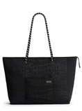 The Voyager Bag - Black Croc