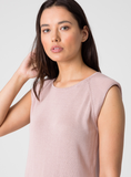 Aura Shoulder Pad Tank - Blush