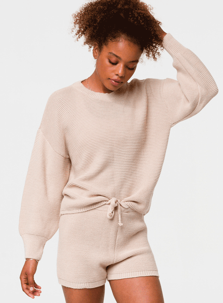 Cozy Knit Sweater - Cuban Sand