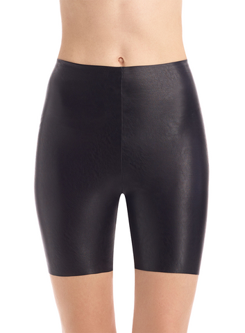 Faux Leather Bike Short with Perfect Control