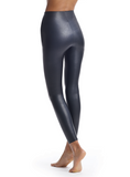 Faux Leather Leggings with Perfect Control Black