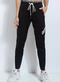 Race Day Track Pant Blk/White